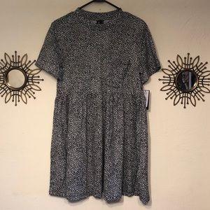 Leopard print short sleeve Volcom dress